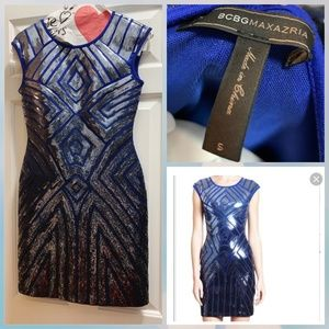 BCBG MAXAZRIA Sequin cocktail dress